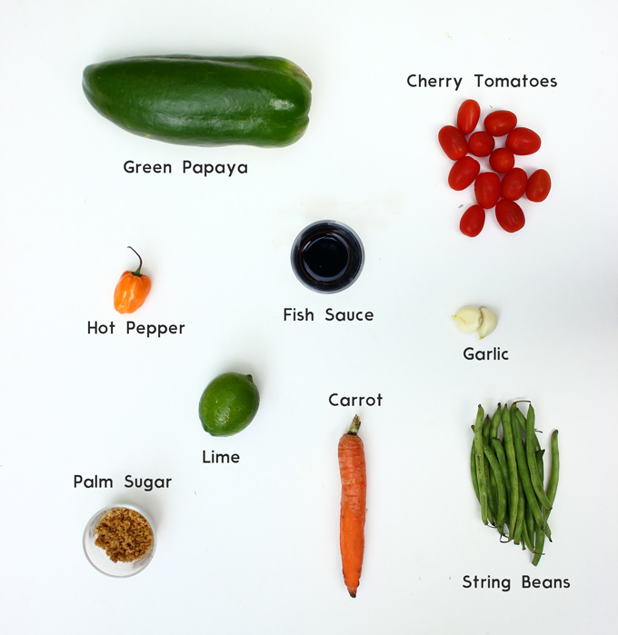 Papaya salad Ingredients